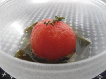 トマトのベジブロス煮びたし ~タイム風味~