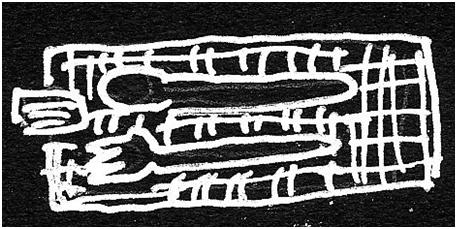 シーチング布裂き織りマット使用例